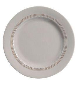 Coralie - Assiette plate taupe 27,5cm en céramique (Par 6) pour 35€