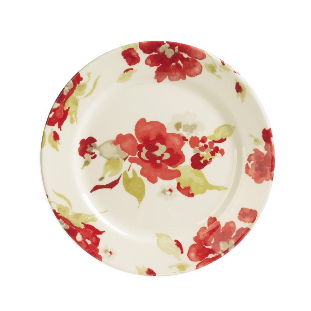 Vaisselle assiette rouge - Decoration assiette dessert ...