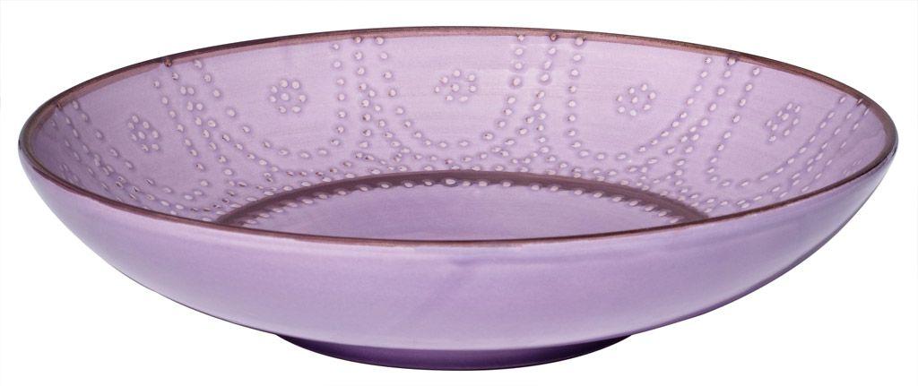 Carlotta - Plat rond lilas 32 cm pour 40€