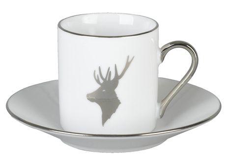 Platine - Coffret  6 tasses café cerf platine pour 35€