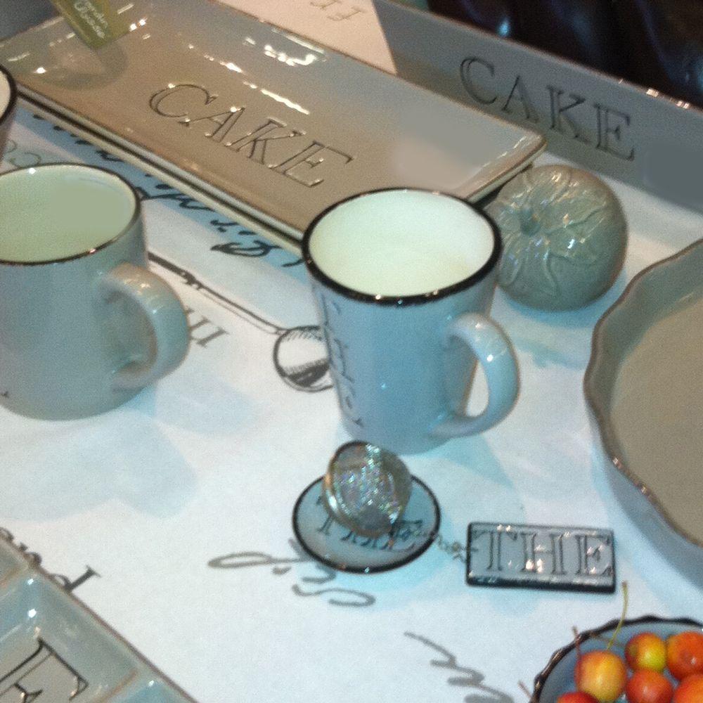 Thé - Set pause Thé gris en céramique avec boule à thé pour 20€