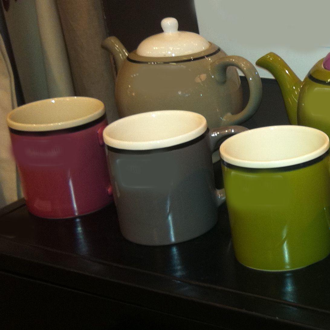 Galia - Mug gris en céramique 10cm (par2) pour 13€