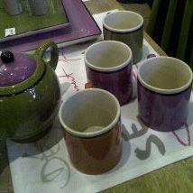 Galia - Mug violet en céramique 10cm (par2) pour 13€