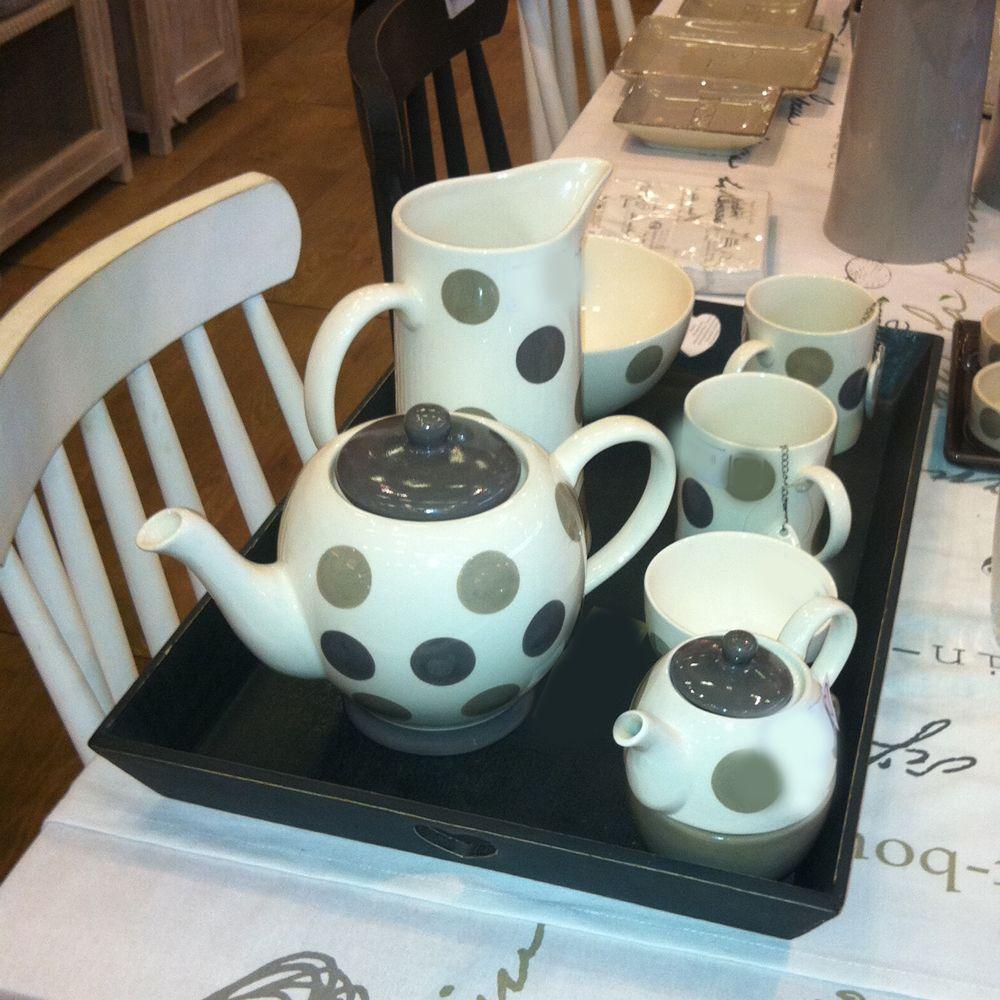 Mila - Mug beige et gris en céramique  H10 cm (par2) pour 13€