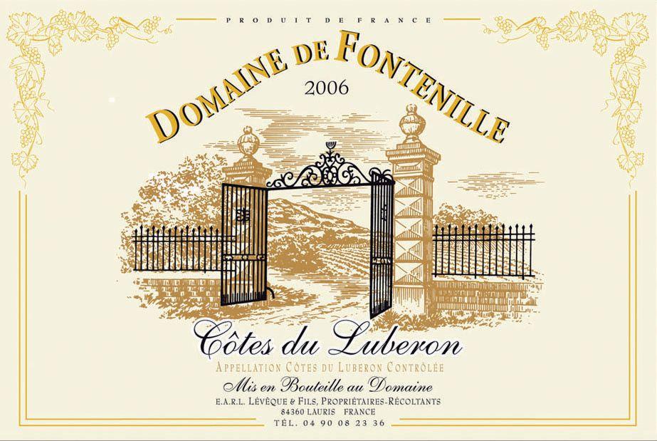 Provence - Torchon domaine de Fontenille côtes du luberon pour 11€