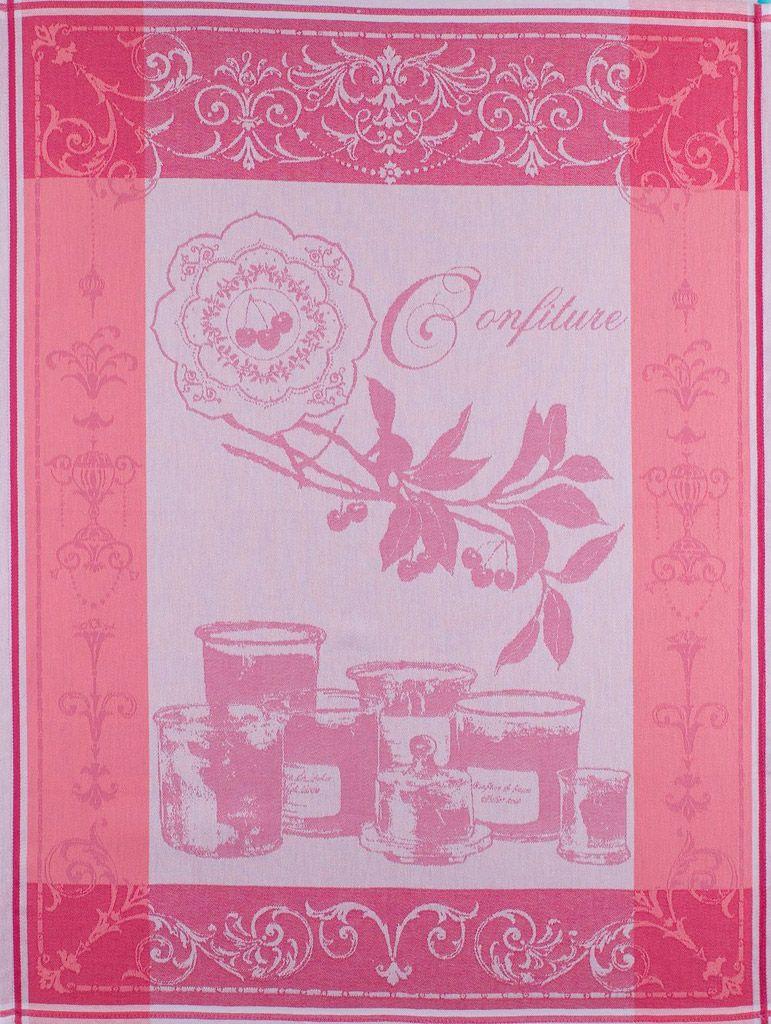 Confiture - Torchon confiture rose pour 14€