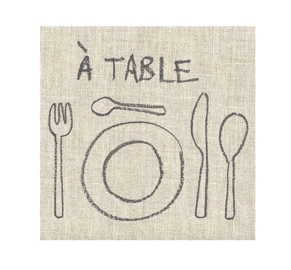 A table - Serviette papier(paquet de 20) pour 5€