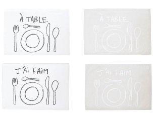 A table - Set de table en coton enduit (par2)