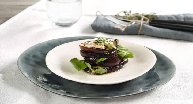 A la maison- plat ceux oyster en ceramique Bi matiere mat et brillant