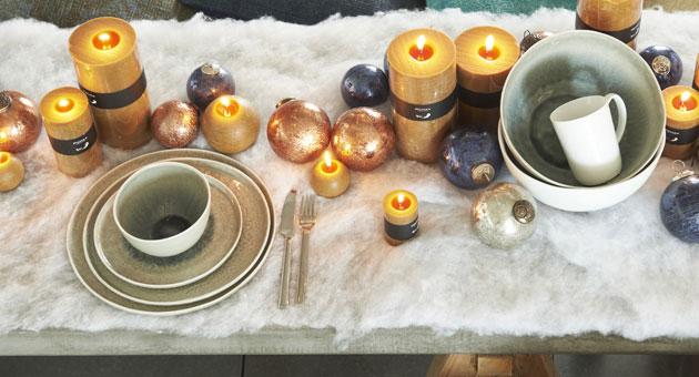 Porcelino - Assiette plate grise et beige froissée