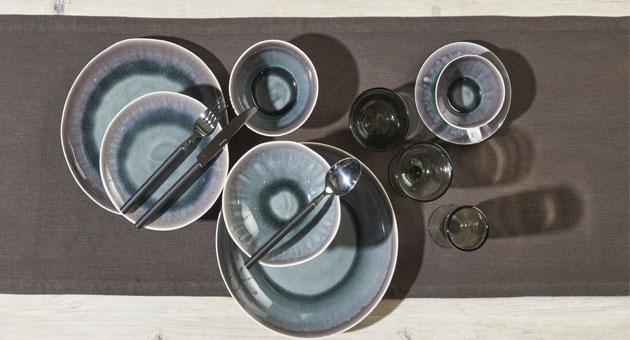 Bambou - Assiette à dessert en porcelaine iris