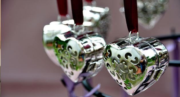 Coeur - Grand coeur de parfum solide Rose Ancienne