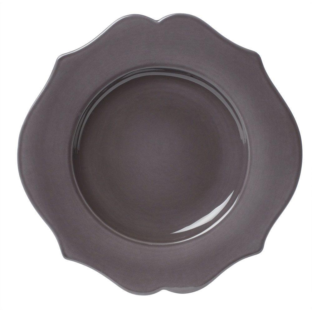 Baroque  - Assiette plate en faience encre  (par 6)