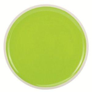 Oceanside - Assiette plate bi colors verte et blanche (par2)