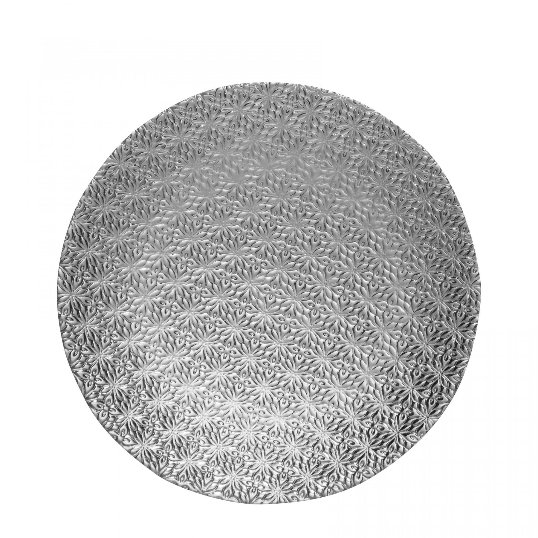 Milesia - assiette de presentation  en verre 28cm