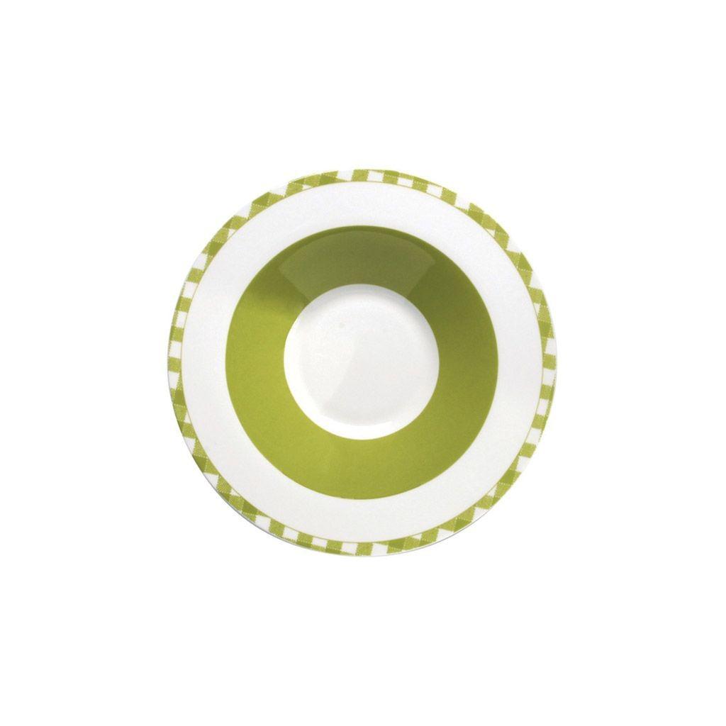 Home - Assiette pates vichy olive (par6)