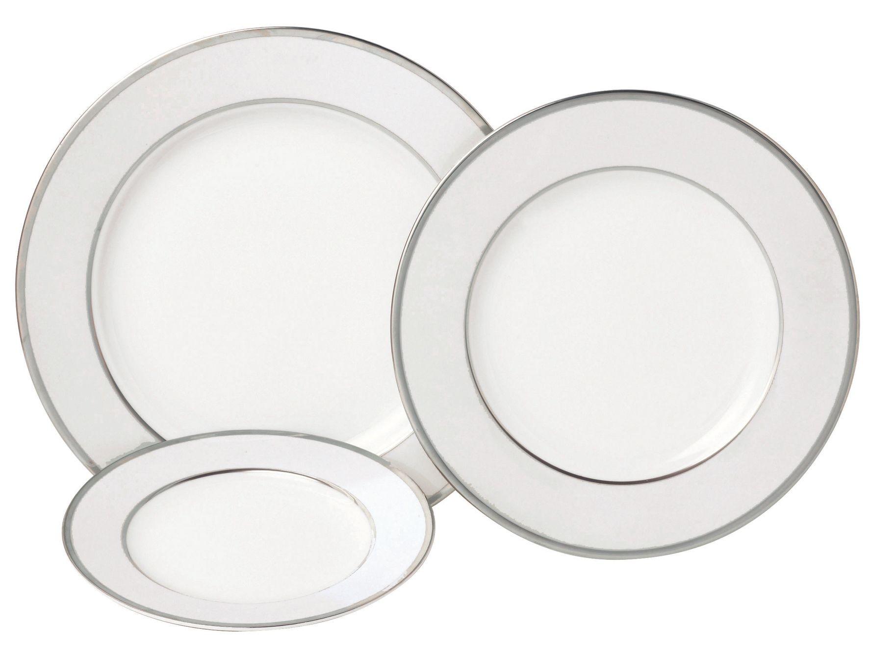 Ginger-Assiette calotte porcelaine Ivoire et platine  (par4)