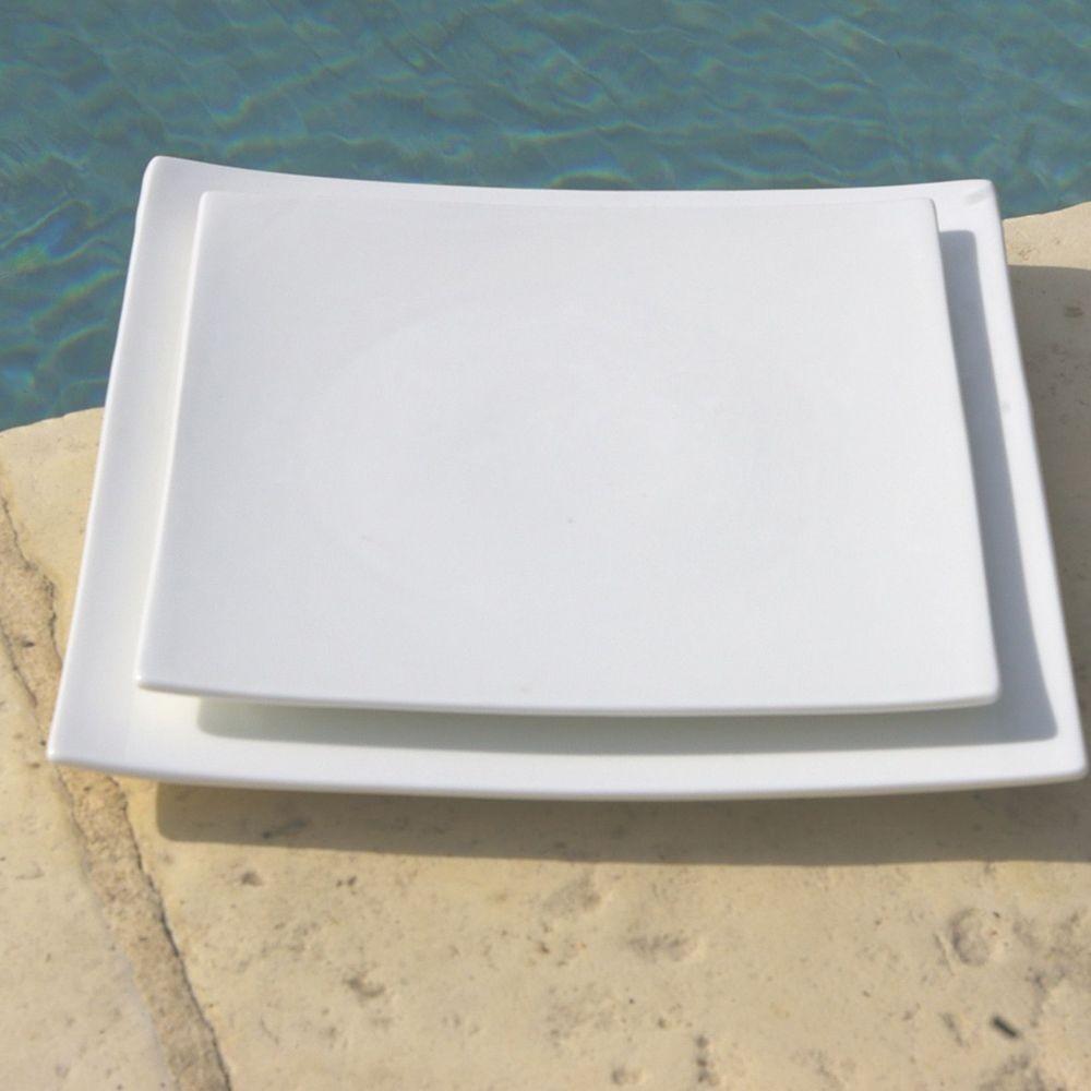 square assiette dessert carr e blanche par4. Black Bedroom Furniture Sets. Home Design Ideas