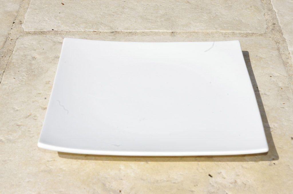 Square - Assiette à dessert carrée blanche (par4)
