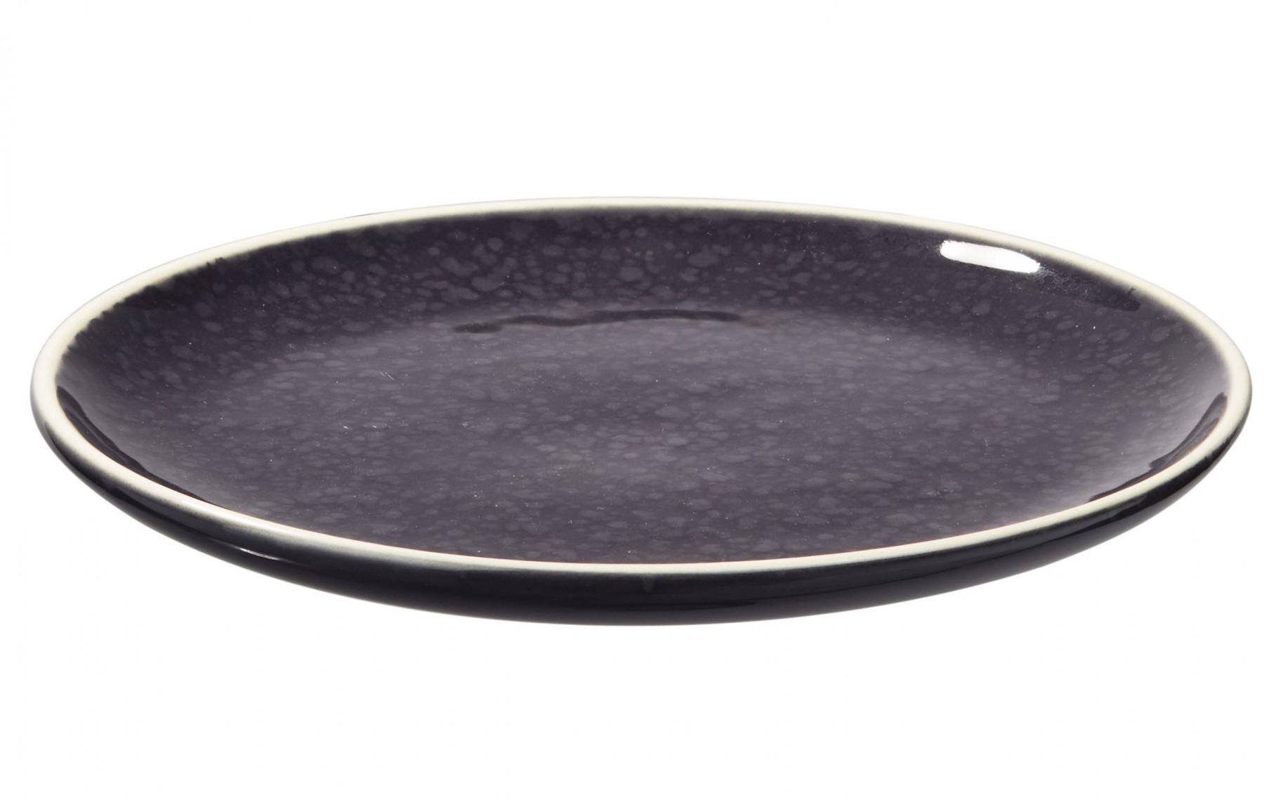 Sixties - Assiette à dessert navy noire 20cm (par2)