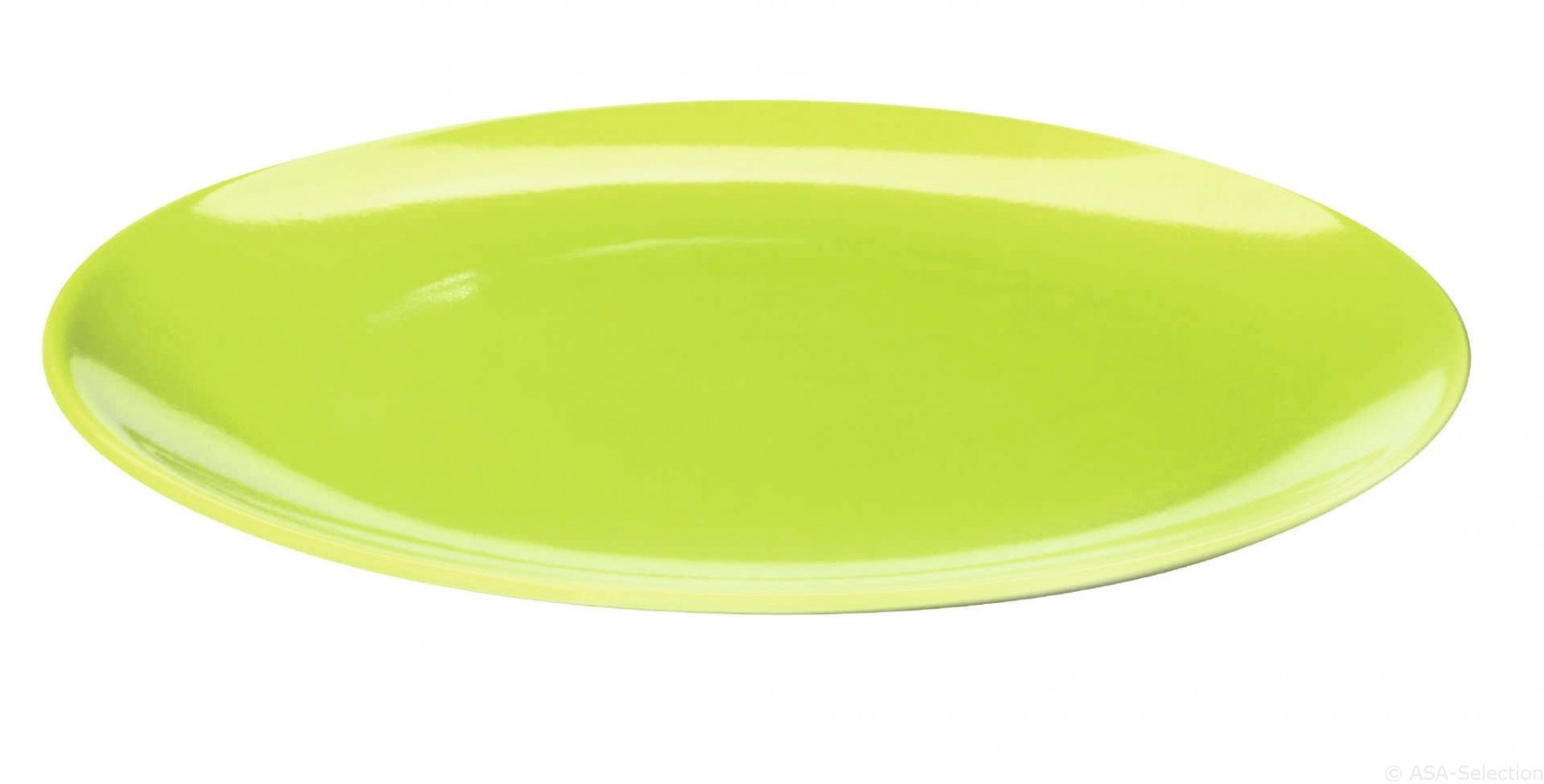 Colors it - Assiette à  dessert vert kiwi 20 cm en porcelaine ( par2)