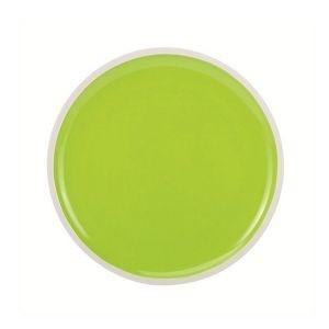 Oceanside - Assiette à dessert bi colors verte et blanche (par2)