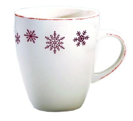 Chamonix - mug en faience motif flocon