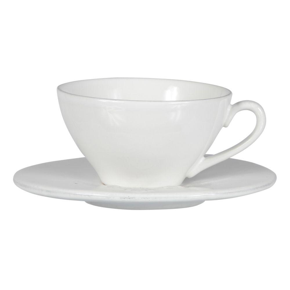 Capucine - Tasse dejeuner en faience blanche ( par 2)