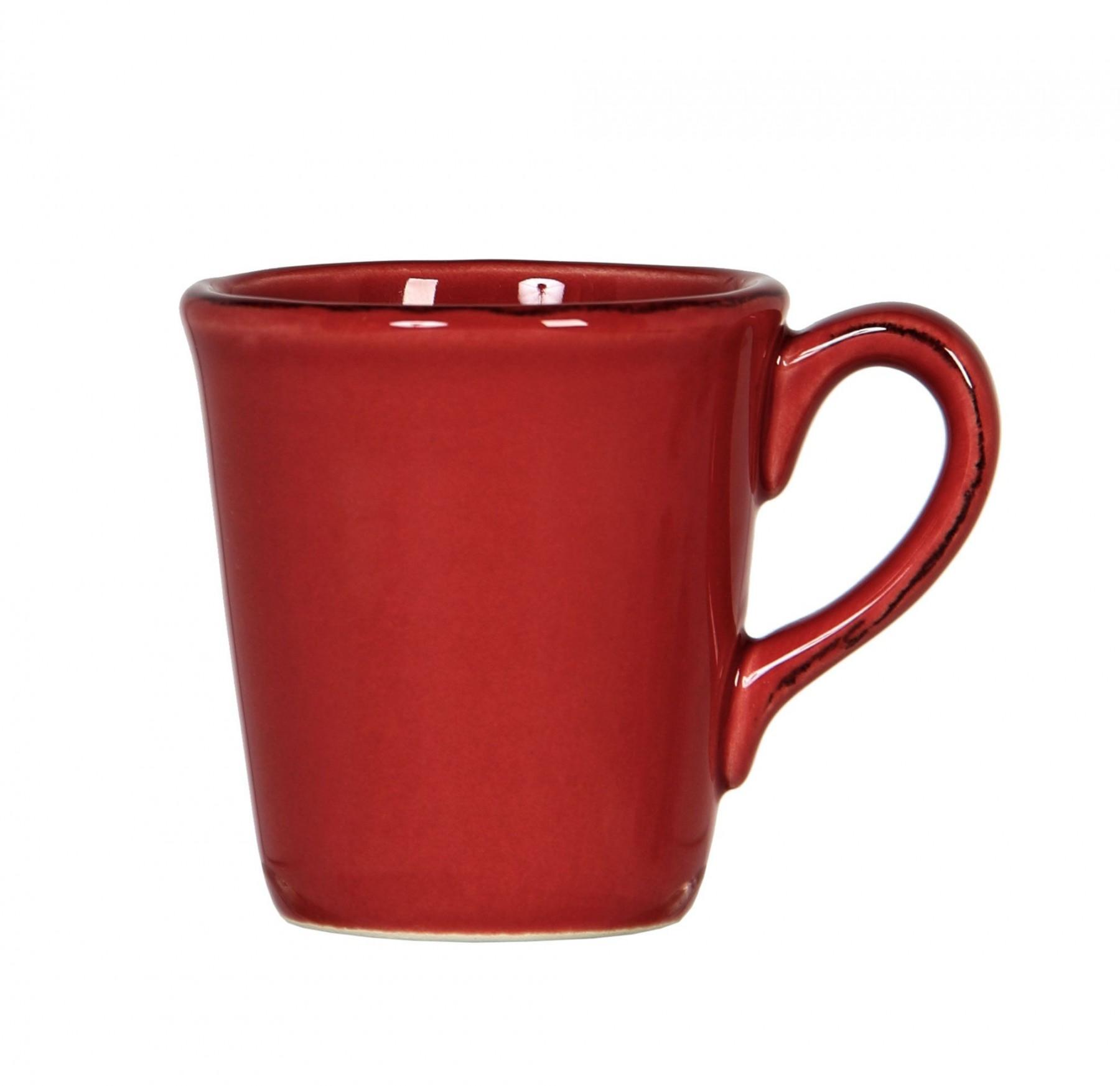 Constance - Mug Expresso  en faience  rouge carmin (par6)