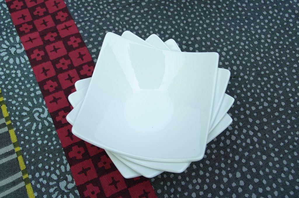 Square  -  Coupelle  carrée  blanche  (par6)