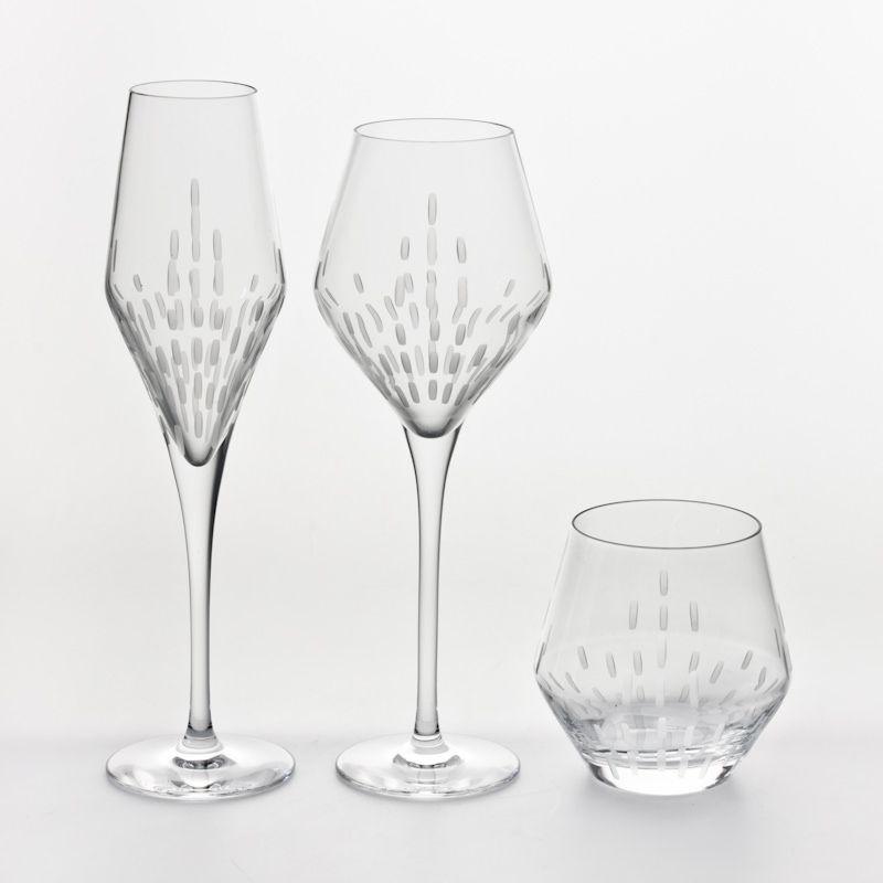 Spirit - flute à champagne cristal taillé (par6)