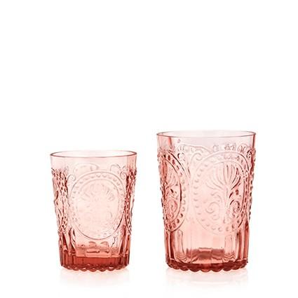 Fleur de Lys - Verre à eau rose (par 2)