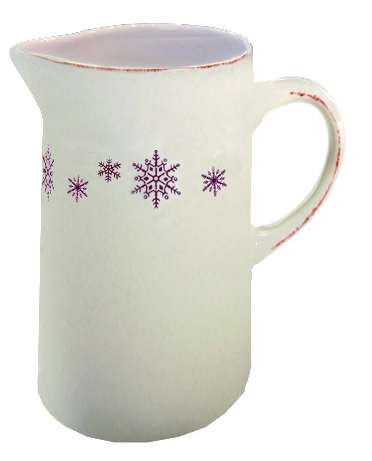 Chamonix - pichet  en faience motif flocon