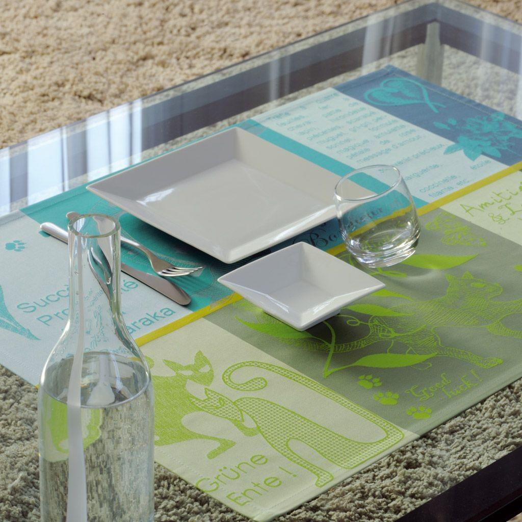 set extra - Set de table large pour table basse et apéritif porte bonheur