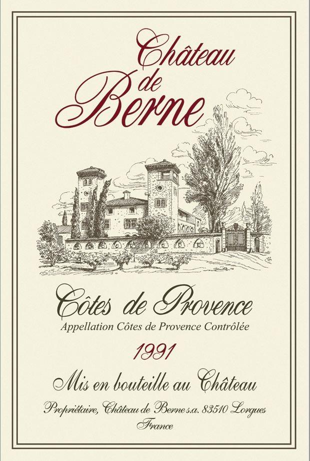 Provence - Torchon château de berne côtes de provence