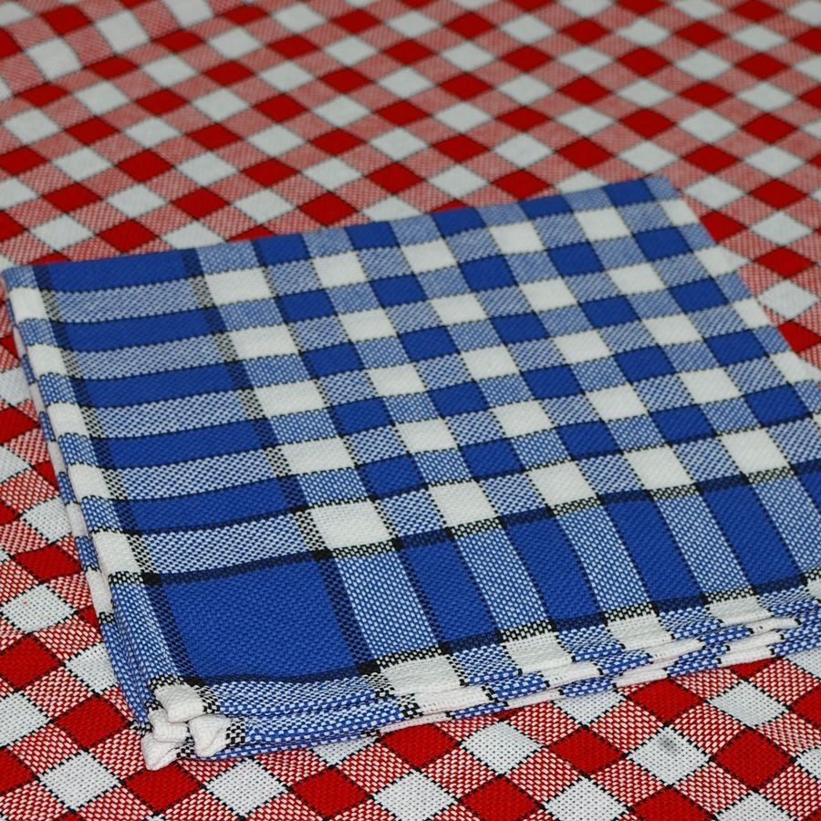 carreaux normands nappe carreaux blancs et bleus rectangle