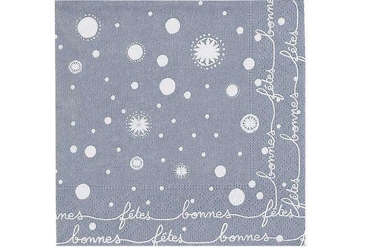 Bonnes fêtes et dentelles- Serviettes papier (Paquet de 20) 16X16cm