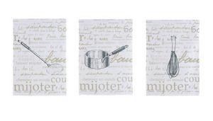Secret de recettes -Set de 3 torchons 50X70 cm 100% coton