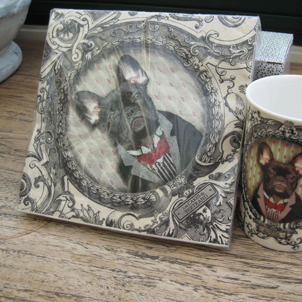 Nestor - Serviettes en papier les cakes de bertrand nestor le chien ( par 20)