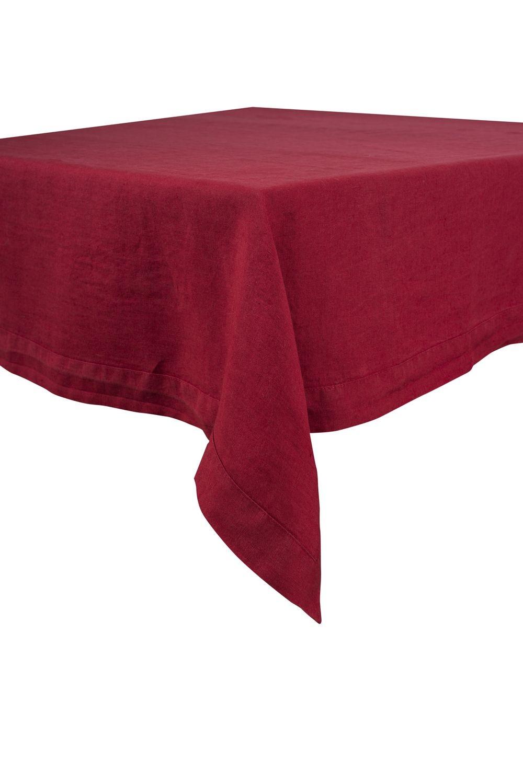 Naïs - Serviette de table en Lin stonewash rouge (par6)