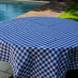 Carreaux normands - Serviette carreaux blancs et bleus (par6)