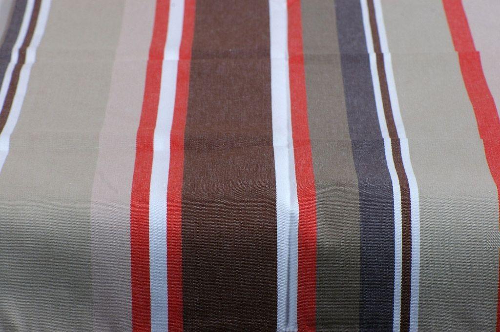 Oloron - Nappe rectangle rayée bayadère traitement anti taches