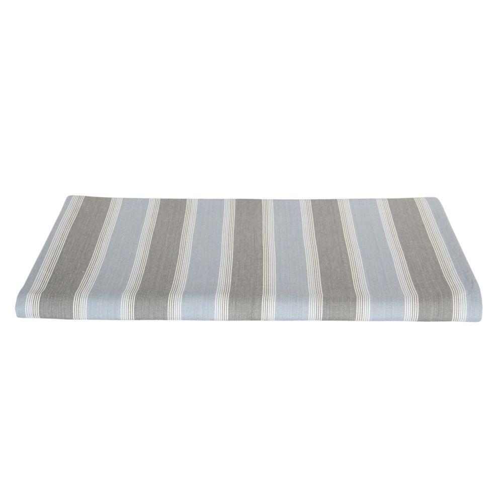 Océan - Nappe rayé ocean bleue et serviettes assorties