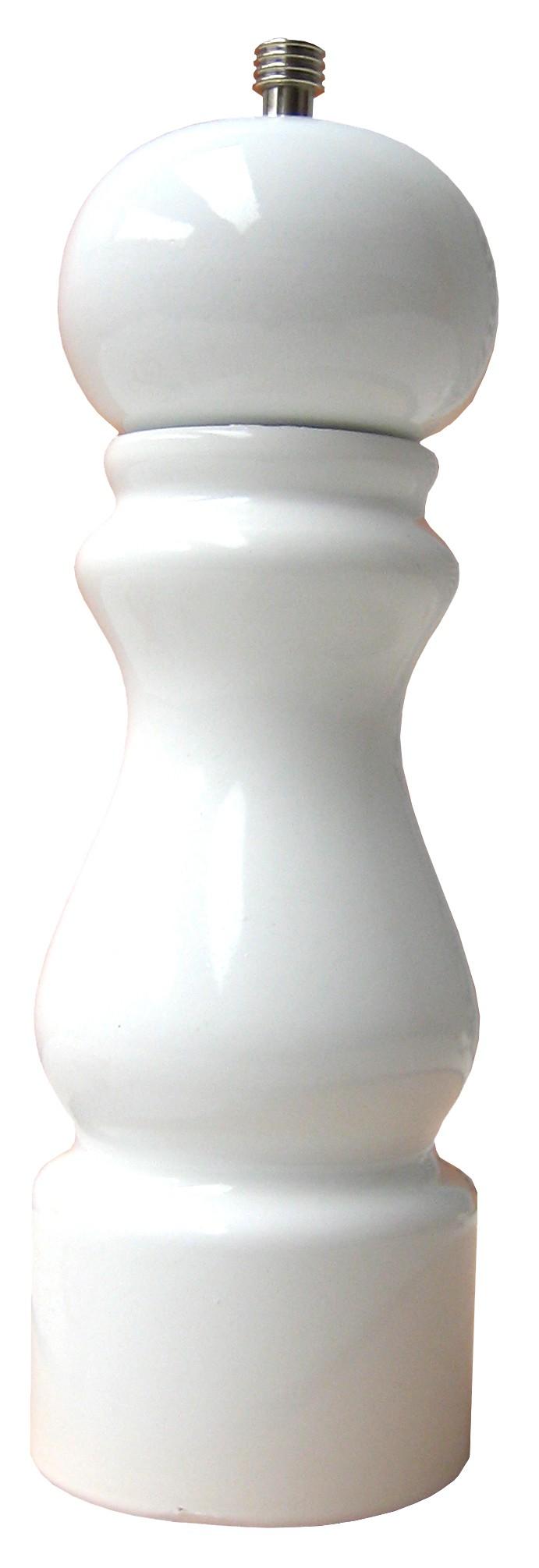 Colors - Moulin à gros sel  laqué brillant blanc 20cm