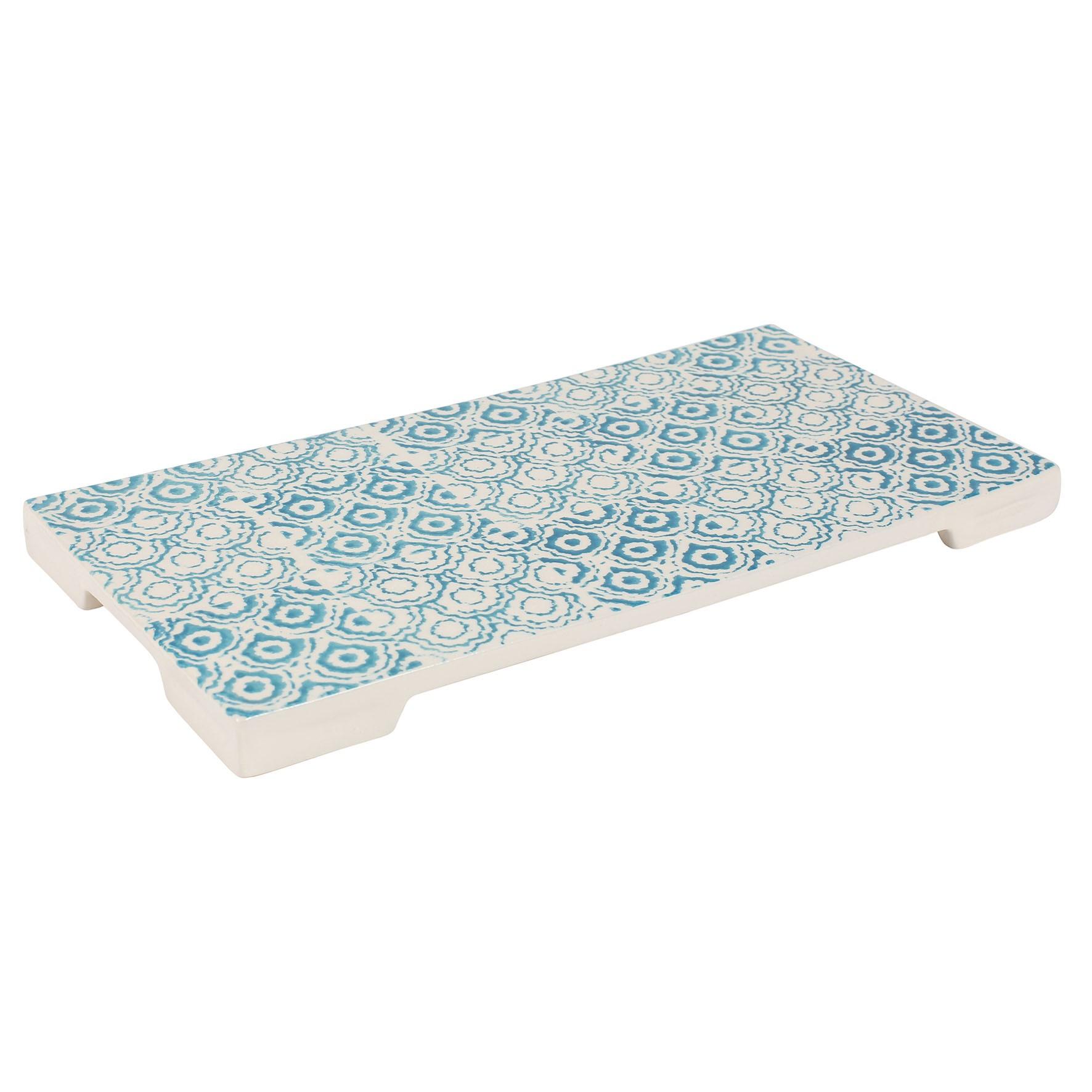 Tatouage - dessous plat tatouage bleu et blanc 30,5x15,5cm