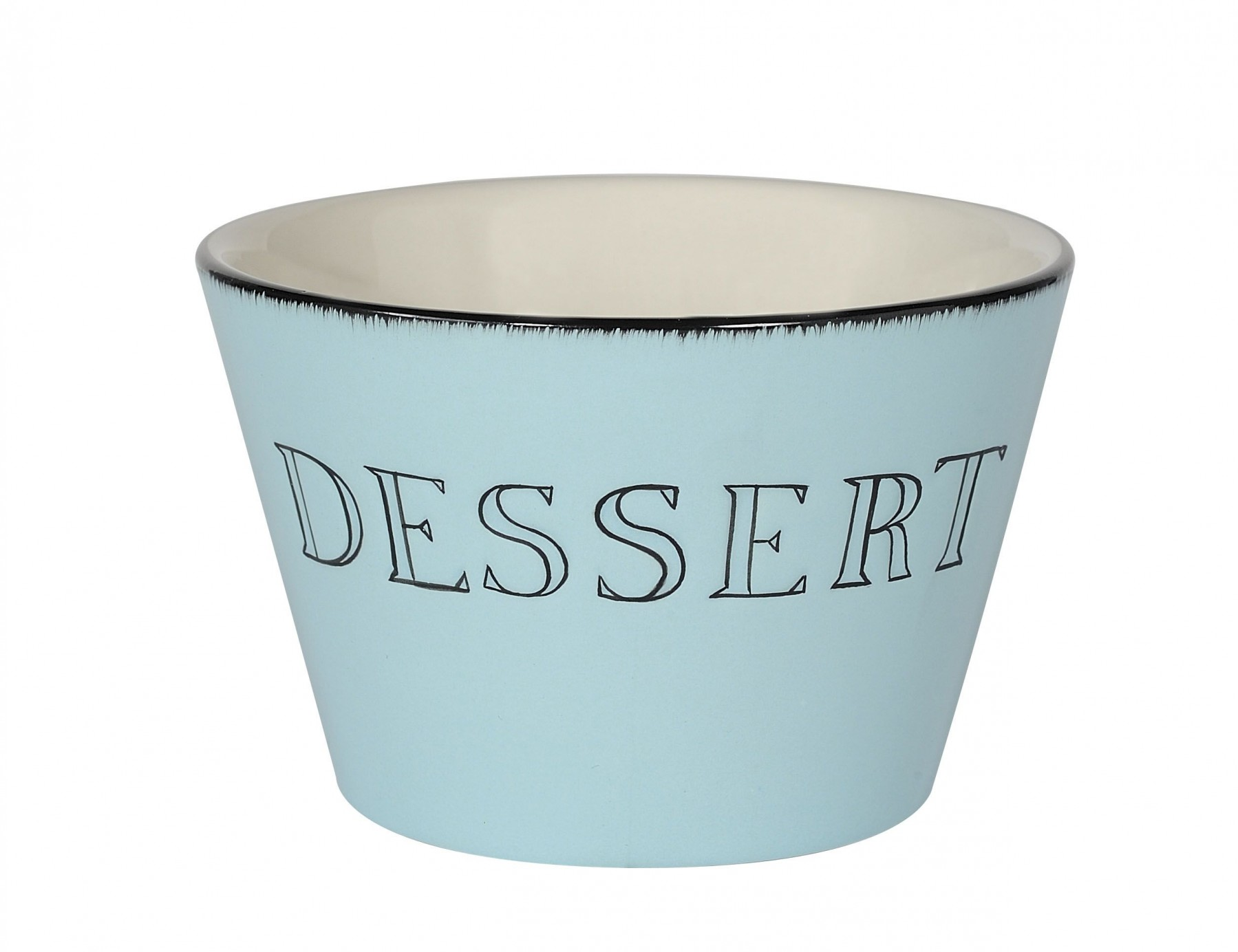 Apéro  -  Bol  dessert   bleu lagon en céramique (par6)