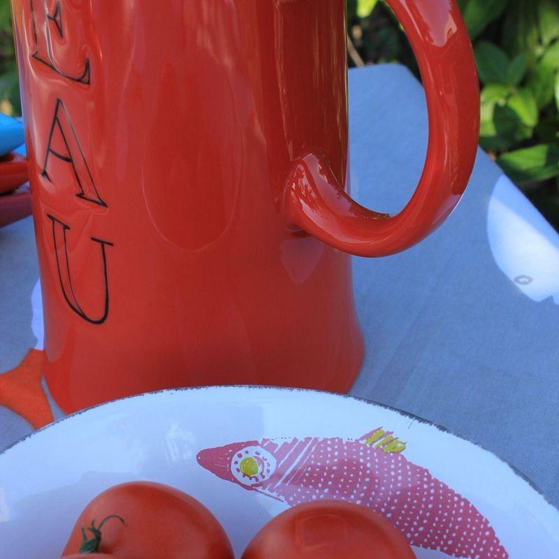 Eau - Pichet à eau mandarine en céramique  d12XH21Cm