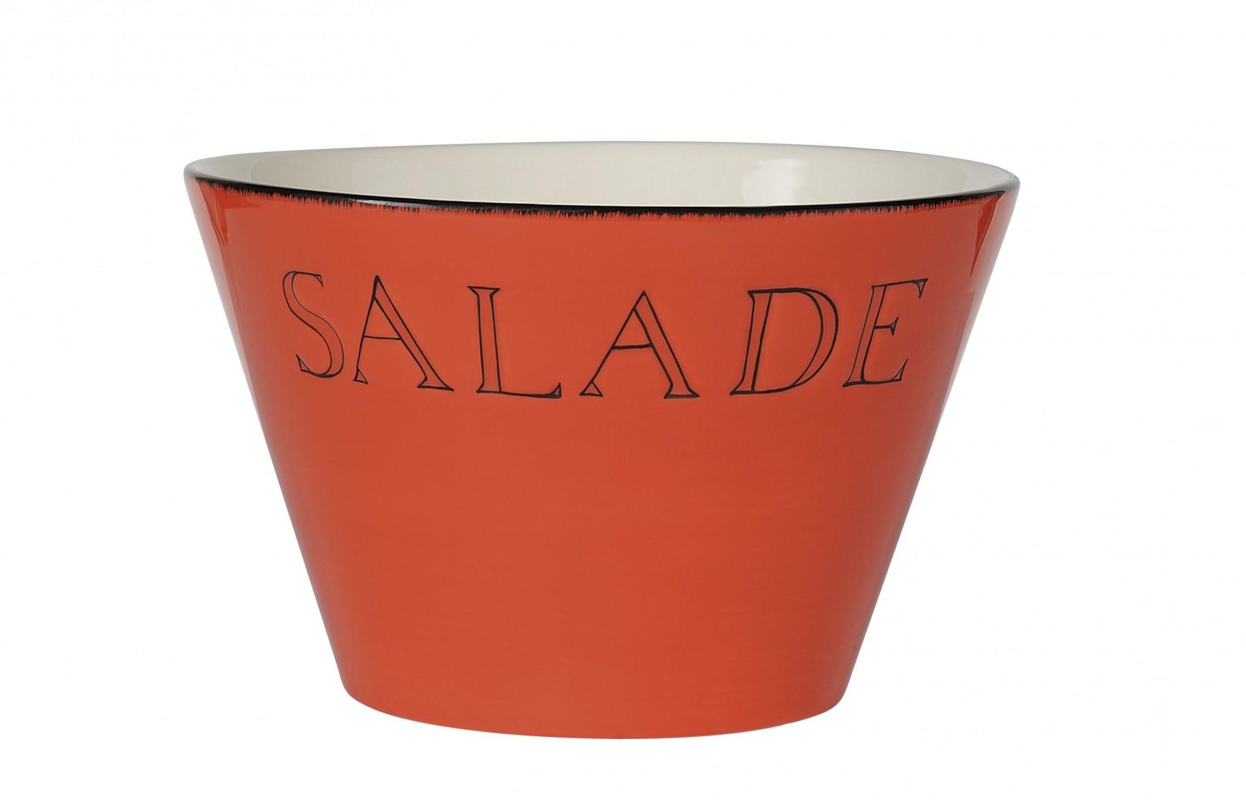 Salade  -  Saladier mandarine  en céramique 25XH15 Cm