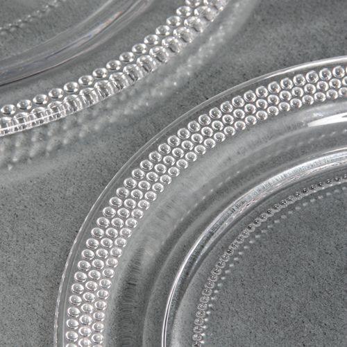 Précieuse -Assiette à dessert en verre transparente (par4)
