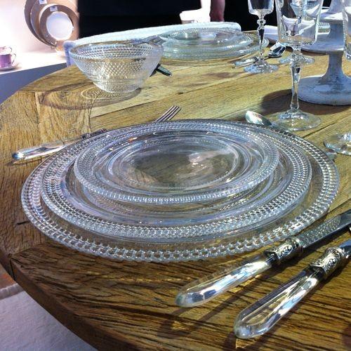 Précieuse - Assiette plate en verre (par4)